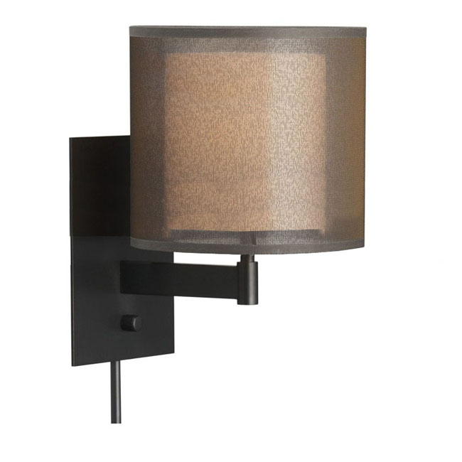 Modern Fabric Wall Lights : Modern Metal And Fabric Wall Sconce in Baking Finish 8353 : Browse Project Lighting and Modern ...