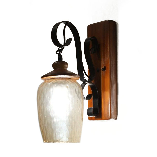 Antique Wood Wall Lamps : Antique Depolished Glass Shade and Wood Canopy Wall Sconce 9912 : Browse Project Lighting and ...