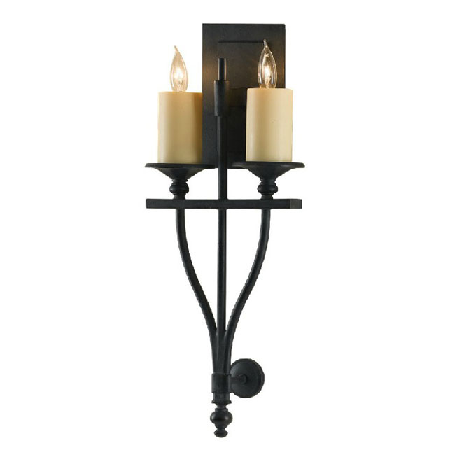 Iron Wall Sconces For Candles : Antique Iron 2 candles Wall Sconce 9957 : Browse Project Lighting and Modern Lighting Fixtures ...