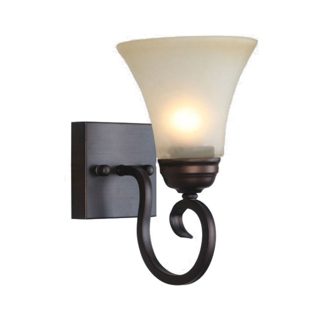 Antique Copper and Marble Shade Wall Sconce 10143