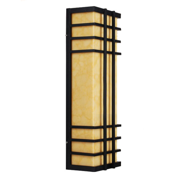 Antique Black Frame and Imitation Marble Shade Wall Sconce 10312