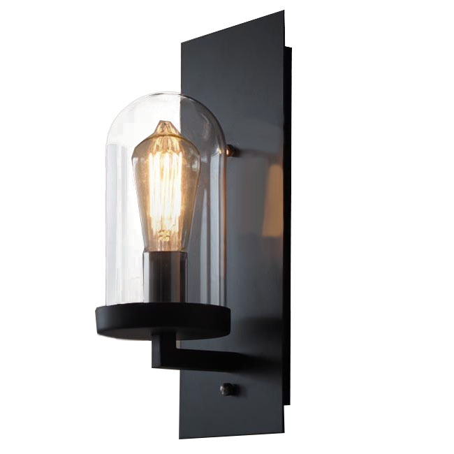 Industrial Style Glass Wall Lights : LOFT Industrial Clear Glass Iron Wall Sconce 10358 : Browse Project Lighting and Modern Lighting ...