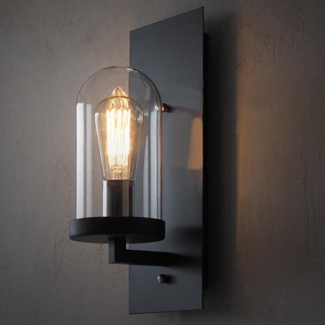 Industrial Iron Wall Sconces : LOFT Industrial Clear Glass Iron Wall Sconce 10358 : Browse Project Lighting and Modern Lighting ...