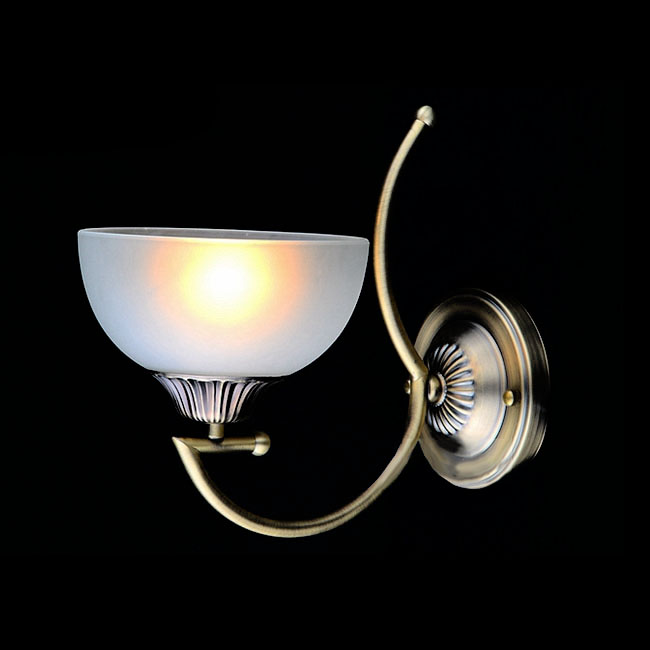 Antique Copper and Glass Shade Wall Sconce 10755
