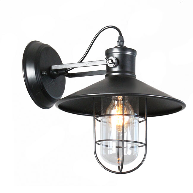 Antique Industrial Wall Sconce in Baked Finish 9218 : Browse Project Lighting and Modern ...