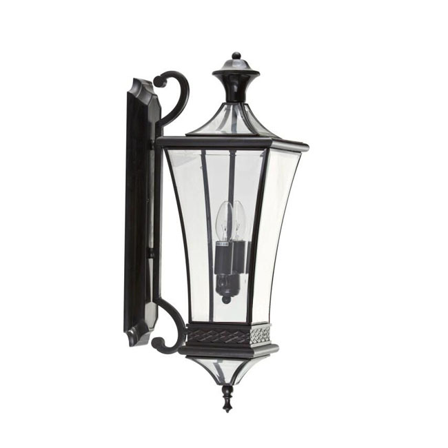 Antique Black Copper and Clear Glass Wall Sconce 11029