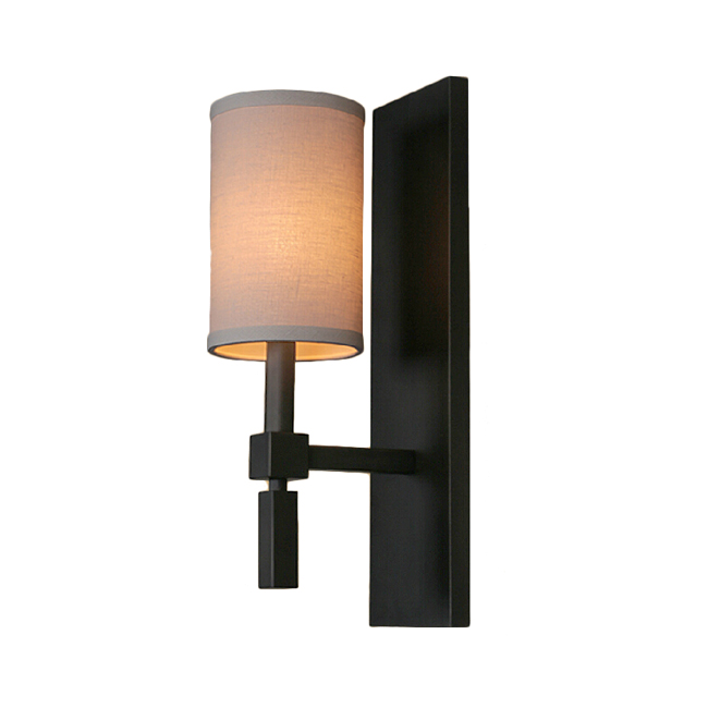 Wall Sconces With Linen Shades : Post Modern Iron and Linen Shade Wall Sconce 11556 : Browse Project Lighting and Modern Lighting ...