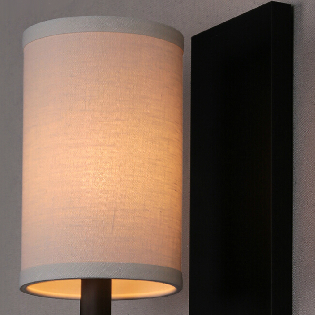 Post Modern Iron and Linen Shade Wall Sconce 11556 : Browse Project Lighting and Modern Lighting ...