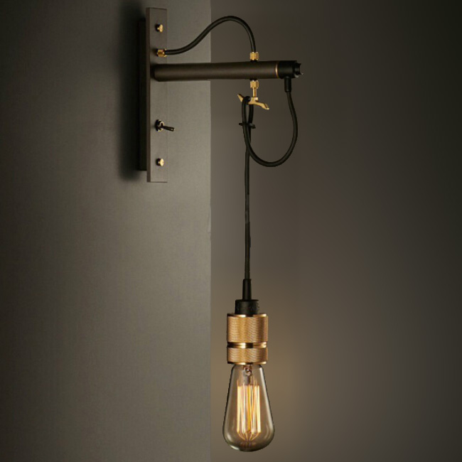 Modern country house iron wall sconce 11767 browse for Country lighting fixtures for home