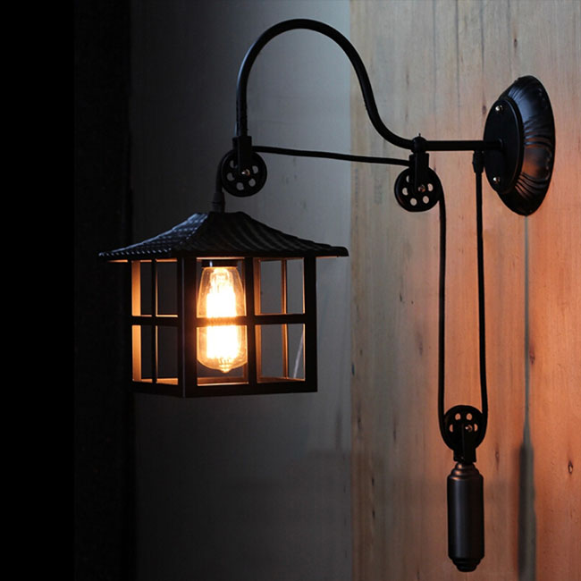 Adjustable Height Wall Lamps : Antique Iron adjustable Height Wall Sconce 11924 : Browse Project Lighting and Modern Lighting ...