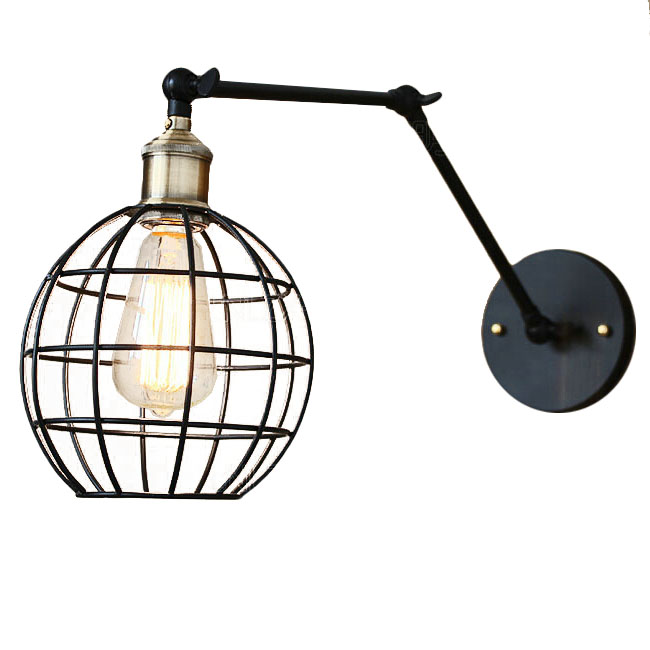 Industrial Iron Wall Sconces : Industrial Iron Line Shade Adjustable Arm Wall Sconce 11929 : Browse Project Lighting and Modern ...