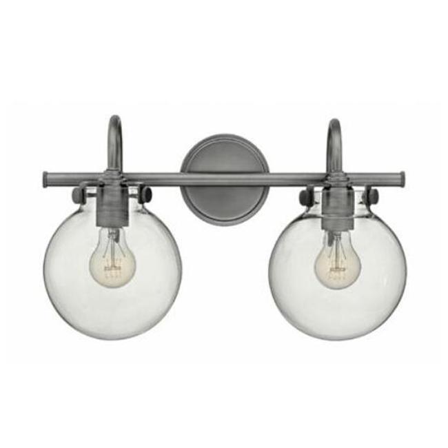 Retro Glass Globe Bath Light   2 Light 13909