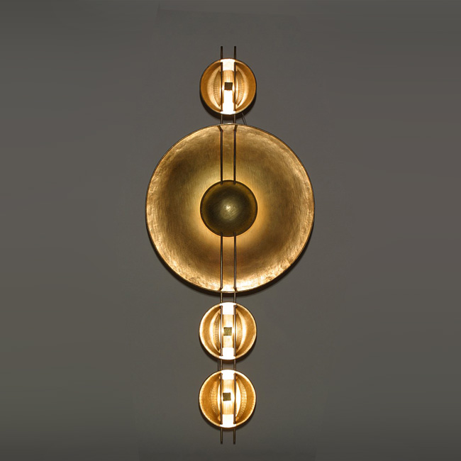 Brass Circle Wall Sconce 15198